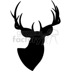buck deer silhouette black+white RG