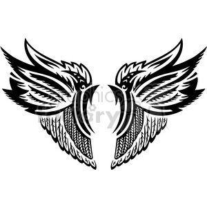 feather wing design clipart. Royalty-free image # 392686