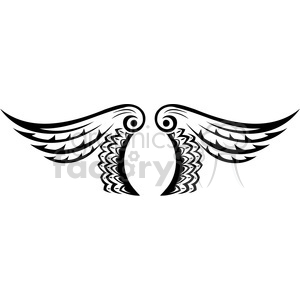 vinyl ready vector wing tattoo design 013 clipart. Royalty-free image # 392696