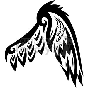 vinyl ready vector wing tattoo design 096