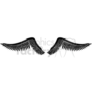 vinyl ready vector wing tattoo design 073 clipart. Royalty-free image # 392716