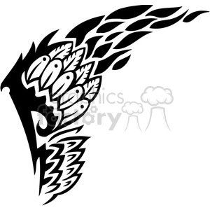 vinyl ready vector wing tattoo design 091 clipart. Royalty-free image # 392726