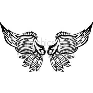 vinyl ready vector wing tattoo design 048 clipart. Commercial use image # 392736