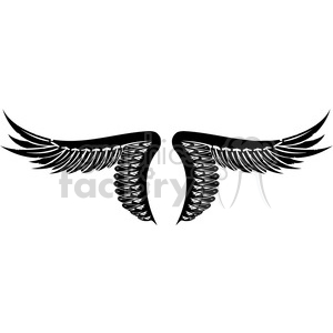 vinyl ready vector wing tattoo design 027 clipart. Royalty-free image # 392746