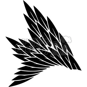 vinyl ready vector wing tattoo design 080 clipart. Commercial use image # 392756