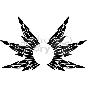 vinyl ready vector wing tattoo design 067 clipart. Commercial use image # 392766