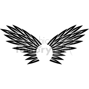 vinyl ready vector wing tattoo design 061 clipart. Royalty-free image # 392776