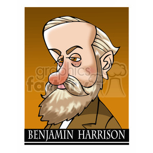 benjamin harrison color clipart. Royalty-free image # 392896