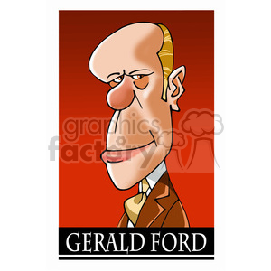 gerald ford color clipart. Commercial use image # 392947