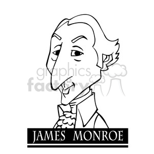 james monroe black white clipart. Royalty-free image # 392972