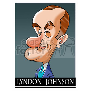 lyndon b johnson color clipart. Royalty-free image # 392982