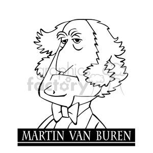 martin van buren black white clipart. Royalty-free image # 393014