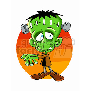 frankenstein cartoon clipart. Royalty-free image # 393213