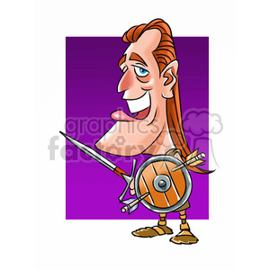 mel gibson cartoon character clipart. Royalty-free image # 393233