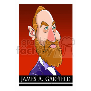 celebrity cartoon character president james+garfield 20th