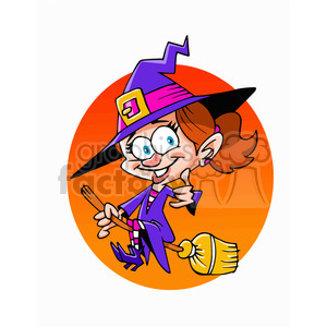 witch on a broom clipart. Royalty-free image # 393323
