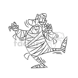 mummy in black and white clipart. Royalty-free image # 393343