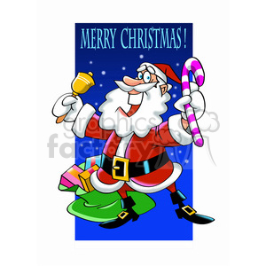 santa claus giving gifts merry christmas clipart. Royalty-free image # 393379