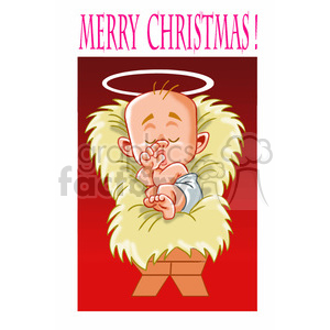merry christmas baby jesus cartoon clipart. Commercial use image # 393399