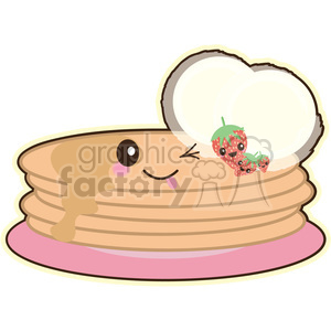 Pancakes clipart. Commercial use image # 393447