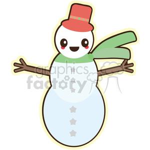 cartoon cute character funny christmas snowman