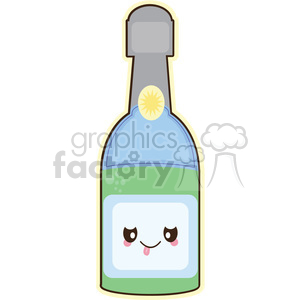 Champagne cartoon character clipart. Royalty-free image # 393537