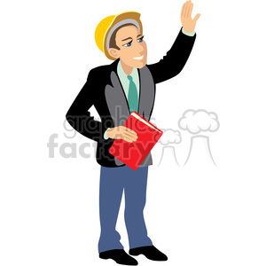 architect on the job site clipart. Commercial use image # 393624