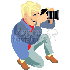 photographer illustration taking photos clipart. Royalty-free image # 393628