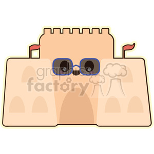 Sandcastle vector clip art image clipart. Royalty-free image # 393772