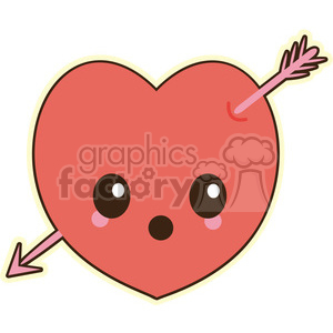 cartoon character characters funny cute Valentines heart arrow shot