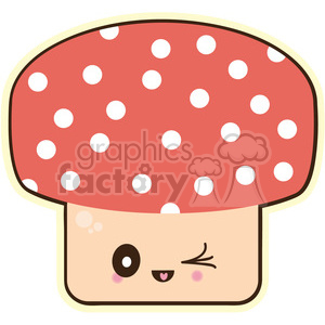 Mushroom vector clip art image clipart. Royalty-free image # 393812