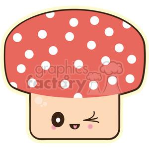 Mushroom vector clip art image