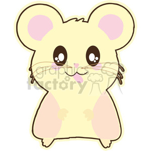 cartoon hamster illustration clip art image clipart. Royalty-free image # 393872