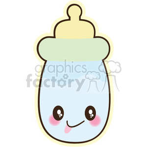 Baby Bottle cartoon character illustration clipart. Royalty-free image # 394138