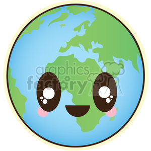 Earth cartoon character illustration clipart. Commercial use image # 394148