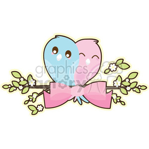 Bird Banner cartoon character illustration clipart. Royalty-free image # 394178