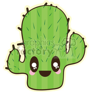 Cactus cartoon character illustration clipart. Royalty-free image # 394208