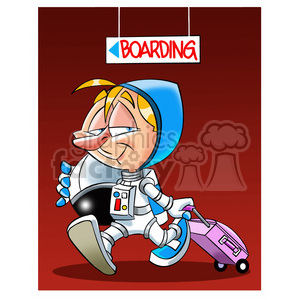 astronaut boarding rocket clipart. Royalty-free image # 394238