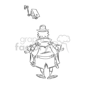 surveillance camera watching exhibitionist clipart. Royalty-free image # 394319