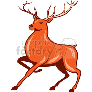 red deer marching ISO clipart. Royalty-free image # 394369