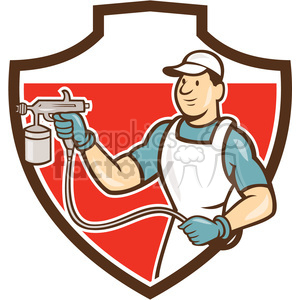 painter spray paint gun front SHIELD clipart. Royalty-free image # 394379