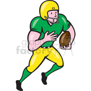 american football receiver run side OL ISO clipart. Royalty-free image # 394389