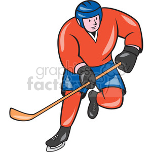 ice hockey player action OL 003 clipart. Royalty-free image # 394399
