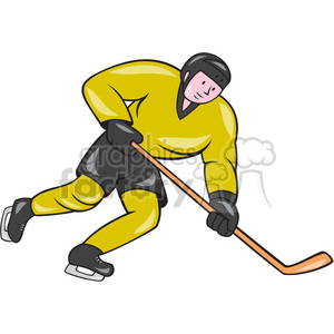 ice hockey player action side OL 008 clipart. Royalty-free image # 394469