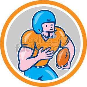 american football receiver run side OL CIRC clipart. Royalty-free image # 394489
