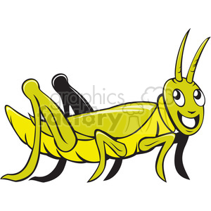 grasshopper CRAWLING SIDE ISO clipart. Commercial use image # 394509