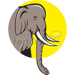 INDIAN elephant HEAD sideview CIRC clipart. Royalty-free image # 394539