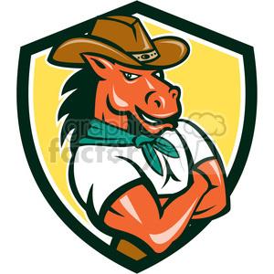 cowboy horse western country logo