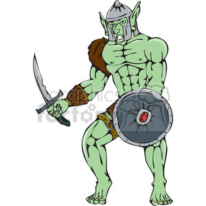 orc warrior sword shield clipart. Commercial use image # 394569