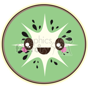 cute cartoon kiwi fruit healthy food snack green